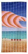 Five Beach Umbrellas Bath Towel