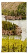 Five Finger Rapids Of Yukon River Yukon T Canada Bath Towel