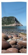 five steps to paradise - Giant pebbles is Menorca north shore close to Cala Pilar beach Bath Towel
