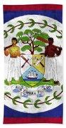Flag Of Belize Bath Towel