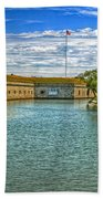Flag Over The Moat Hand Towel