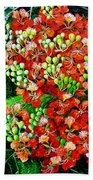 Flamboyant In Bloom Bath Towel