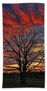 Flaming Oak Sunrise Bath Towel
