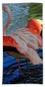 Flamingo Flight Bath Towel