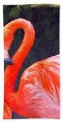 Flamingo In The Wild Bath Towel