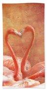Flamingo Love Bath Towel