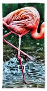 Flamingo Splash Two Bath Towel