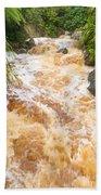 Flash Flood In West Coast Creek Of Nz South Island Bath Towel