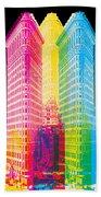 Flat Iron Pop Art Hand Towel by Gary Grayson
