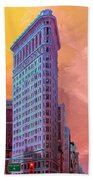 Flatiron Building At Sunset Bath Towel