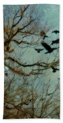 Flight Of The Forest Crows Bath Towel