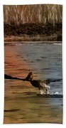 Flight Of The Pelican-featured In Wildlife-newbies And Comfortable Art Groups Bath Towel