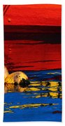 Floating Buoys And Reflections Bath Towel