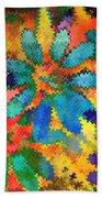Floral Abstract Photoart Bath Towel