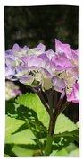 Floral Art Photography Pink Lavender Hydrangeas Bath Towel