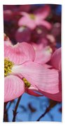 Floral Art Print Pink Dogwood Tree Flowers Bath Towel