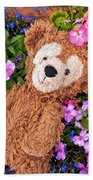 Floral Bear Bath Towel