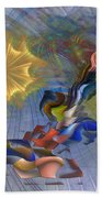 Floral Predator - Square Version Bath Towel