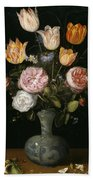 Floral Still Life Bath Towel