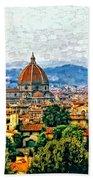 Florence Watercolor Bath Towel