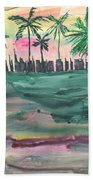 Florida City-skyline2 Bath Towel