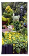 Flower And Garden Signage Walt Disney World Bath Towel