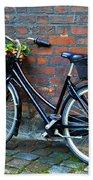 Flower Basket Bicycle Bath Towel