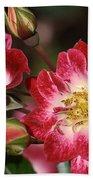 Flower-cream-pink-red-rose Bath Towel