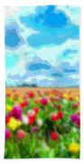 Flower Field Bath Towel