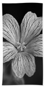 Flower In Black And White Bath Towel