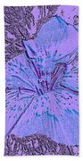 Flower Of Purple Bath Towel