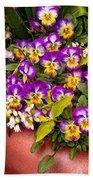 Flower - Pansy - Purple Posies  Bath Towel