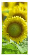 Flower - Texas Sunflower Field 1 - Luther Fine Art Bath Towel