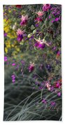 Flower Wall At The Falls Selective Color Bath Towel