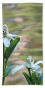 Flowering Pond Plant Bath Towel