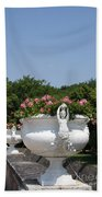Flowerpots In A Row - Chateau Chenonceau Bath Towel