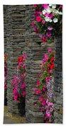 Flowers At Liscannor Rock Shop Bath Towel