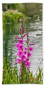 Flowers At The Lake Bath Towel