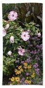 Flowers In A Garden Bath Towel