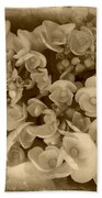 Flowers In Sepia Bath Towel