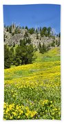 Flowers In The Park Bath Towel