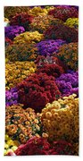 Flowers Near The Grand Palais Off Of Champ Elysees In Paris France   Bath Towel