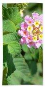 Flowers Of Pink And Orange Bath Towel