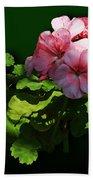 Flowers - Pale Pink Geranium Bath Towel