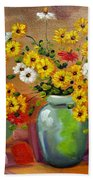Flowers - Still Life Bath Towel