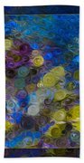 Flowing River Water And Rocks Colorful Abstract Painting Bath Towel