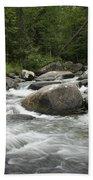 Flowing Stream In Vermont Hand Towel