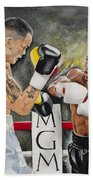 Floyd Mayweather Hand Towel by Don Medina