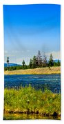 Fly Fishing In Yellowstone Bath Towel