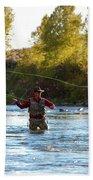 Fly Fishing Bath Towel